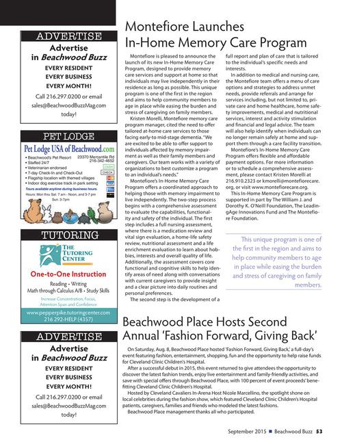 Beachwood Buzz Magazine - September 2015 Page 53
